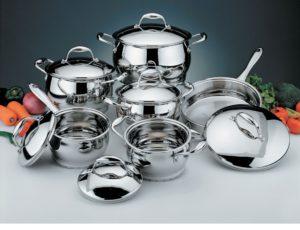 Набор посуды из нержавеющей стали
