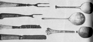 Древние ножи, вилки и ложки