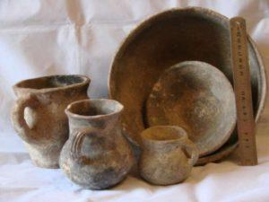 Древняя посуда из глины