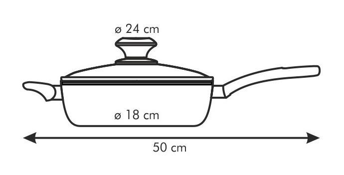 Размеры керамической сковороды