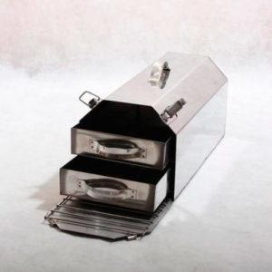 Жаровня двухъярусная из нержавеющей стали 1,5 мм