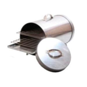 Коптильня двухъярусная цилиндрическая углеродистая сталь 0,8 мм